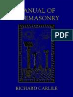 Richard Carlile - Manual of Freemasonry