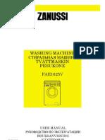 Zanussi FAE1025V PDF Rus