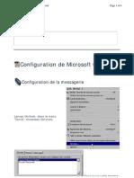 Configuration d'Outlook