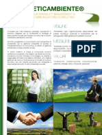 Italian brochure of ETICAMBIENTE® Sustainability Management & Communications Consulting (Edition July 2011)