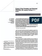 Prostatic and Seminal Vesicles Cyst