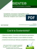 SAS Institute Seminario Sostenibilità 31 Marzo 2009