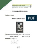 Mesa de Anestesia - Segura Atencio, Spallanzani