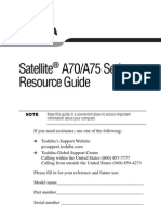 TOSHIBA Satellite A70 A75 Resource Guide