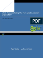 Role of Testing in Agile