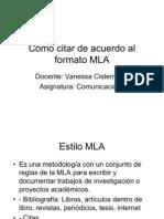 Cómo citar de acuerdo al formato MLA