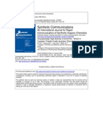 Acylation of Thiophene With Zn(OTf)2