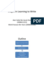 Stages in Learning to Write