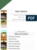 Basic Options - OPT 101