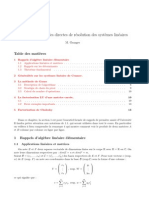 FACTORISATION LU