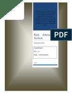 Risk Assessment System