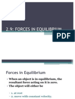 2.9 Equilibrium in Forces