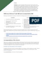 Accommodation Bills of Exchange