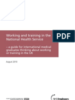 Working and Training in the National Health Service - A Guide for IMGs FINAL