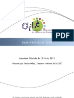 Bilan Financier 2010