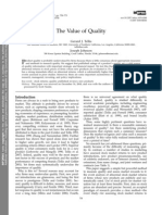The Value of Quality by Gerrad Tellis