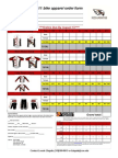 CoeBRAI Apparel Order Form 2011 2nd Round
