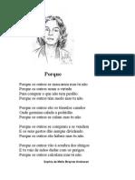 'Porque' - Sophia de Mello Breyner Andresen
