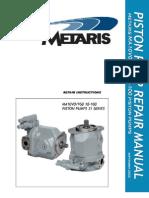 Piston Pump Repair Manual