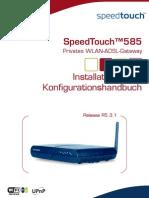 Speed Touch 585 Handbuch R5.3.1