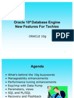 Oracle 10g New Features