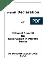 Delhi Declaration 050809