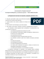 Curriculum y Transposicion Didactica