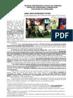 Espaço para produções locais - texto do curso de Projeto Editorial 2 da PUC-Campinas