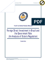 FDİ in Brazil and the Government Roles