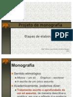 ELABORAÇÃO PROJETO DE MONOGRAFIA TCC l ppt