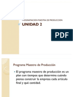 U2 Programa Maestro de Produccion