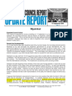 Update Report 10 September 2008 Myanmar
