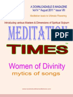 Meditation Times August 2011