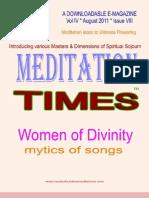 Meditation Times August 2011