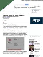 Editando vídeos no Adobe Premiere