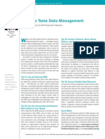 4 Tips to Tame Data Management