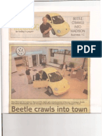 Business Cover Story - Endearing VW Bug Unveiled - The Capital Times