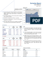 Derivatives Report 1st August 2011