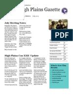 High Plains Gazette Vol 9
