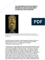 Compromise on Restitution of Benin Bronzes