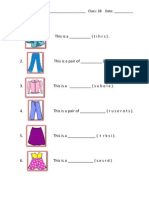 Worksheet - Clothes