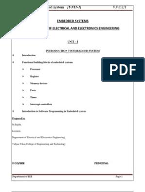 Unit 1-embedded system | Embedded System | Random Access Memory