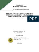 6469624 Analisa Location Quotient Lq Di Propinsi Bali Untuk Menentuka Sektor Ekonomi Unggulan