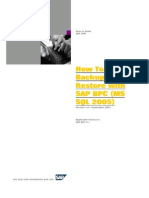 2.How to Backup and Restore With SAP Business Planning and Consolidation 5x (SQL 2005)