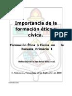 Importancia de La Formación ética y cívica.