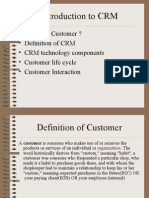Introduction to CRM