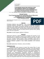 Analisis Ekonomi Usahatani Hortikultura Sebagai Komoditi Unggulan Agribisnis
