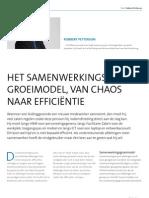 Samenwerkingsgroeimodel, van chaos naar efficiëntie