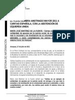 Cáritas Española Amotinado 2011