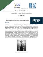 "Speak Truth To Power Series in KI-Media - Natasa Kandic (Serbia) ""Human Rights in Time of War"""